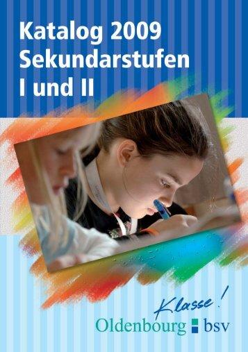Katalog Sekundarstufen 2009 - Oldenbourg Verlag