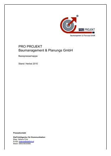 Download - PRO PROJEKT Baumanagement & Planungs GmbH