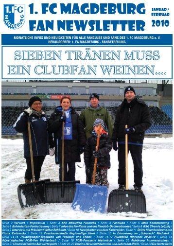 Newsletter Januar/Februar 2010 - FanRat eV