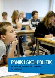 Panik i skolpolitik