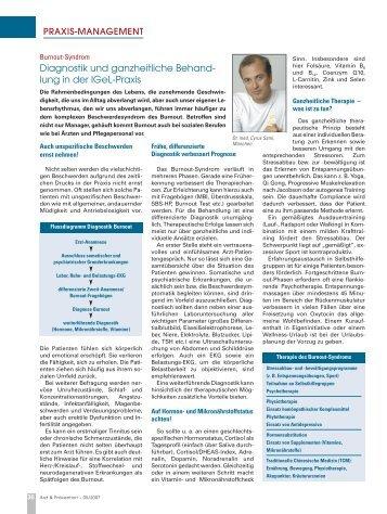 Burnout-Syndrom - Dr. med. Sami