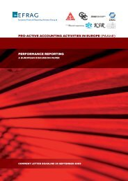 March 2009 European Discussion Paper on Performance Reporting