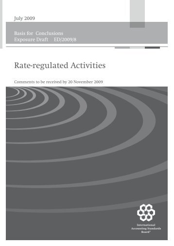 Rate-regulated Activities - Basis of Conclusions.fm - BDO International