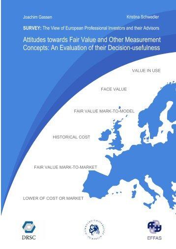 Attitudes towards Fair Value and Other Measurement ... - DRSC