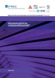Performance Reporting - Autorité des  normes comptables
