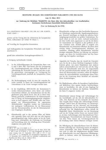 Richtlinie 2012/6/EU des Europäischen Parlaments und ... - EUR-Lex