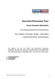 Gourmet/Panorama-Tour Friaul-Venetien-Dolomiten - Prime Time