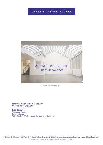 MICHAEL BIBERSTEIN - Galerie Jaeger Bucher