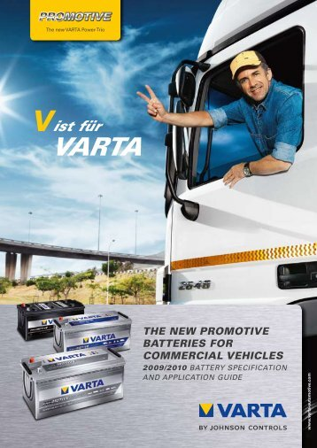the new promotive batteries for commercial vehicles - VARTA ...