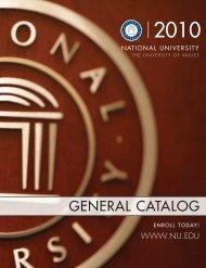 GENERAL CATALOG - National University