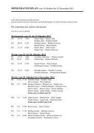 MINISTRANTENPLAN vom 1. Februar bis 22. März ... - Kirche Kerns