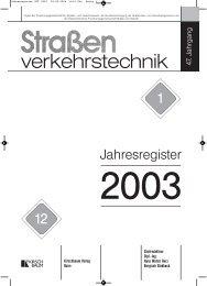 Jahresregister SVT 2003 - Straßenverkehrstechnik