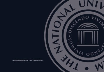 NATIONAL UNIVERSITY SYSTEM I 2011 I ANNUAL REPORT