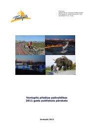Ventspils pilsētas pašvaldības 2011.gada publiskais pārskats