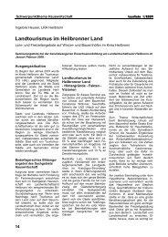Landtourismus im Heilbronner Land - Infodienst Landwirtschaft ...