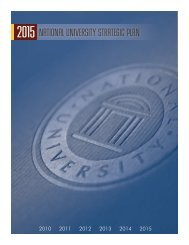 2015 National University Strategic Plan