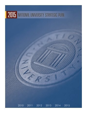2015 National University Strategic Plan