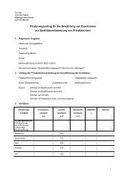 Qualitätsverbesserung Privatzimmer Antragsformular