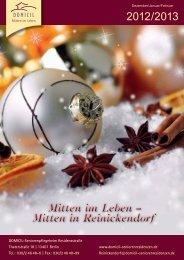 Mitten in Reinickendorf - DOMICIL Seniorenresidenzen