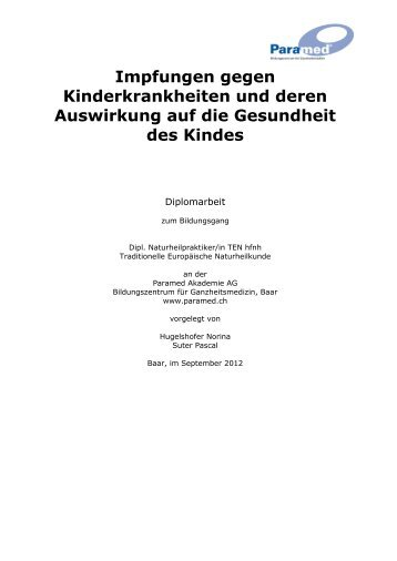 Diplomarbeit von Norina Hugelshofer und Pascal Suter - Paramed