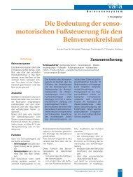 Die Bedeutung der senso motorischen ... - Dr. Stumptner