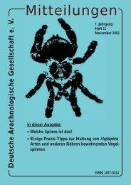 Deutsche Arachnologische Gesellschaft e. V - DeArGe
