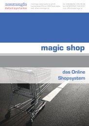 magic shop das Online Shopsystem - newmagic datensysteme GmbH
