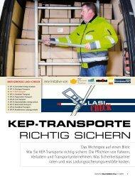KEP-TRANSPORTE RICHTIG SICHERN - BGL
