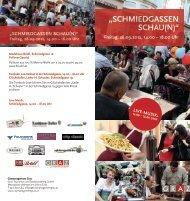 """""""SCHMIEDGASSEN SCHAU(N)"""" - Graz Tourismus"""