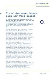 Travel-Arranger bauen sich ihr Tool selbst - Cytric
