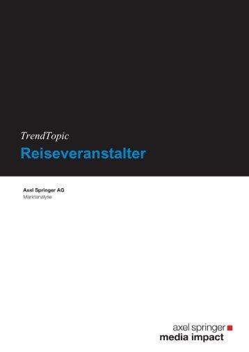Reiseveranstalter - Axel Springer MediaPilot