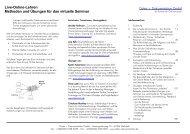 Live-Online-Lehren Methoden und Übungen für das virtuelle Seminar