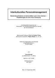 Interkulturelles Personalmanagement - Institut für Organisation und ...