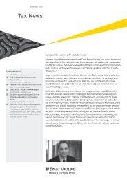Tax News – Dezember 2008 - Home - Ernst & Young - Schweiz