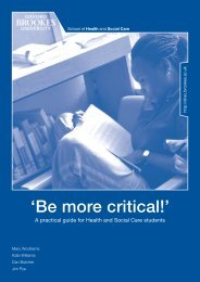 'Be more critical!' - Oxford Brookes University