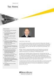 Tax News – Dezember 2012 - Home - Ernst & Young - Schweiz