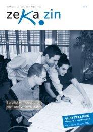 zekazin 1/2012 - zeka, Zentren körperbehinderte Aargau