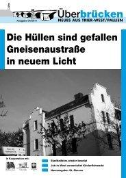 Die Hüllen sind gefallen Gneisenaustraße in neuem Licht - Trier-West
