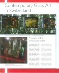 Contemporary Glass Art in Switzerland - verarte