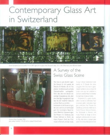 Contemporary Glass Art in Switzerland - verarte