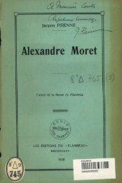 Alexandre Moret - Ecole nationale des Chartes - La Sorbonne
