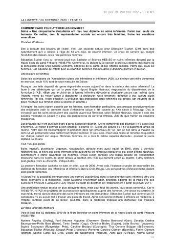 REVUE DE PRESSE 2010 - FEGEMS 1/2