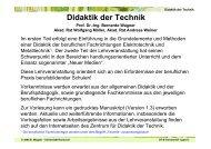 Didaktik der Technik Prof. Dr.-Ing. Bernardo Wagner Akad. Rat ...