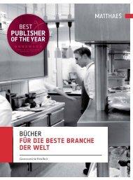 Bücher für die beste branche der welt - Matthaes Verlag GmbH