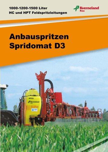 Anbauspritzen Spridomat D3