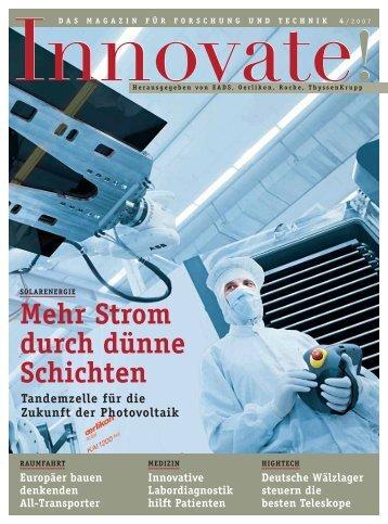 Mehr Strom durch dünne Schichten - Innovate!