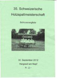 Rangliste Hergiswil 2012 - Handholzer Eptingen