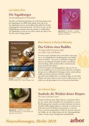 Neuerscheinungen Herbst 2010 als PDF - Arbor Verlag