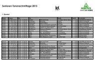 Senioren-Tanznachmittage 2013 - Pro Senectute Kanton Bern