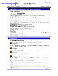 Saugos duomenų lapas - DR-Software